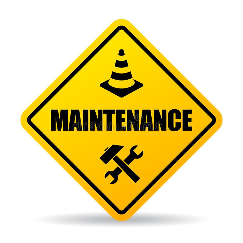 maintenance-sign-yellow-caution-maintenance-vector-sign-white-background-168286119