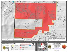 South Grants Pass Wildfire Hazard Zones