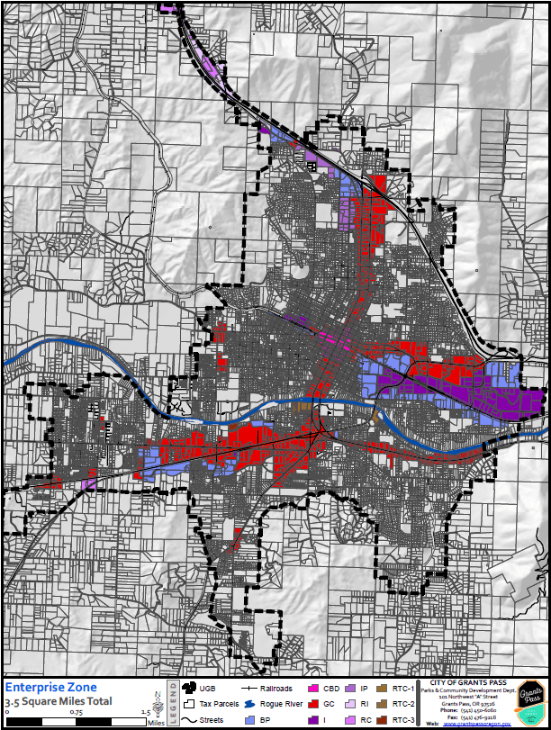 Grants Pass Enterprise Zone Map