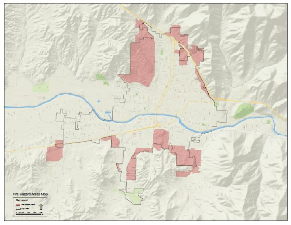 Grants Pass and Urban Growth Boundary Areas Fire Hazards Map