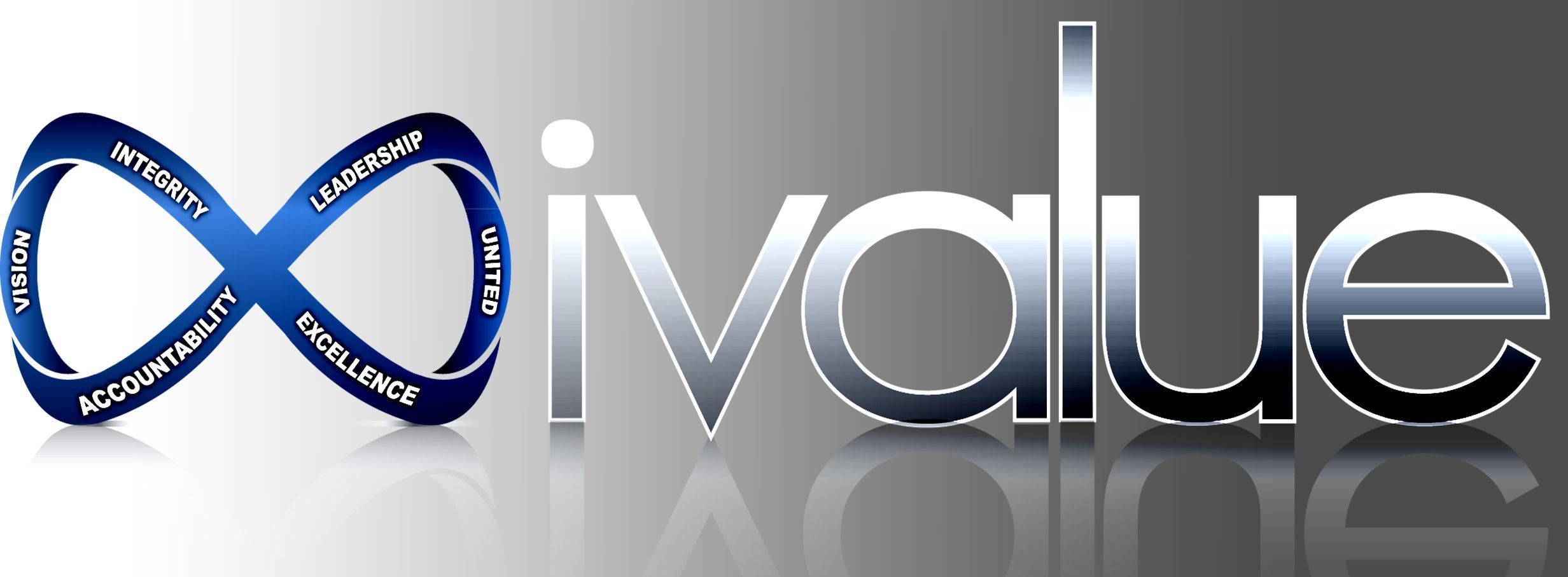 IValue Logo - Integrity, Vision, Accountability, Leadership, United, Excellence