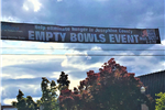 6th Street Banner advertising Empty Bowls event